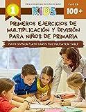 Primeros Ejercicios De Multiplicación Y División Para Niños De Primaria Math Division Flash Cards Multiplication Table: Practice daily maths ... division flashcards games for beginners kids