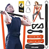 TESLANG Resistance Band Bar, Heavy Resistance Bands with Bar for Men, 500 LBS Strength Training Bars...