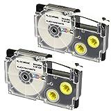 2 Cassettes XR-9WE XR-9WE1 nero su bianco 9mm x 8m Nastri compatibili per Etichettatrice CasioKL-60 KL-100 KL-120 KL-200 KL-300 KL-750 KL-780 KL-820 KL-2000 KL-7000 KL-7200 KL-8100 KL-8200 CW-L300