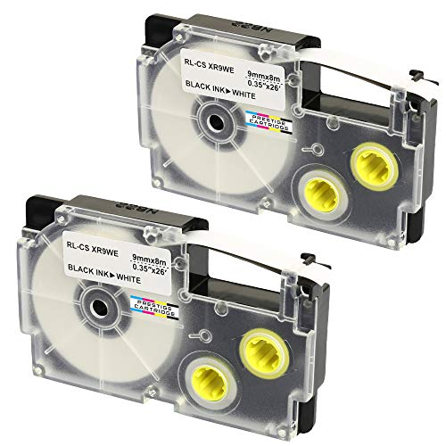 5x label tape 24mm nero-bianco per Casio kl-200e