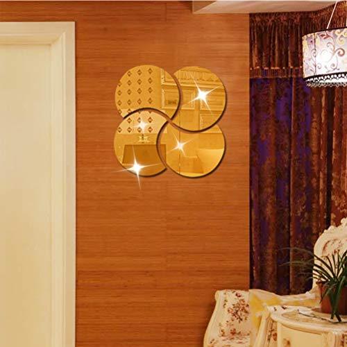 LDFANG spiegel muur sticker halve maan spiegel vorm, 3D kristal muur sticker slaapkamer badkamer decoratie, gecombineerde grootte 28 * 28 cm