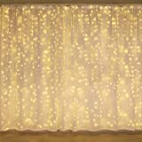 300 Led Curtain Lights,Twinkle Lights for Bedroom, Wedding Decorations ,Wall Decor Lights for Teen Girls,Dorm Room Essentials for Girls Decor,Fairy String Lights,Party Birthday Christmas Decorations