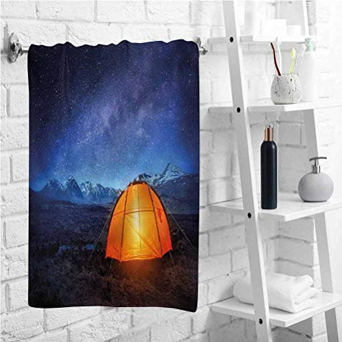 W 12 X L 35 inch Decorative Bathroom Towel Camp Tent Holiday Journey,Absorbent Bath Towel,Best Lightweight Towel for The Swimming,Sports,Beach