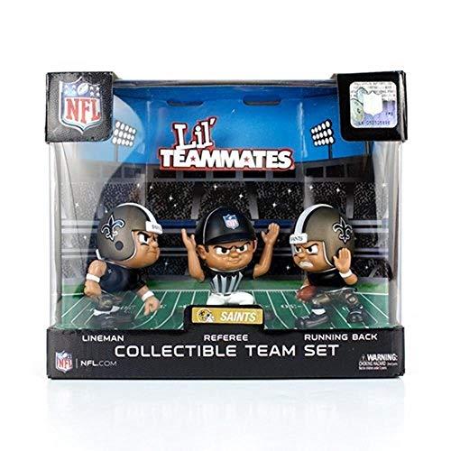 Lil' Teammates 3 Figurine New Orleans Saints NFL Team Set (Pack of 3)