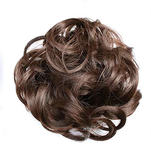 Notdark Einfach zu tragen Haargummi Haarteil Haare für Haarknoten Gummiband Hochsteckfrisuren Haarband (E)