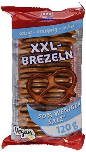 XOX Gebäck XXL-Brezeln mit 50% weniger Salz,  120 g