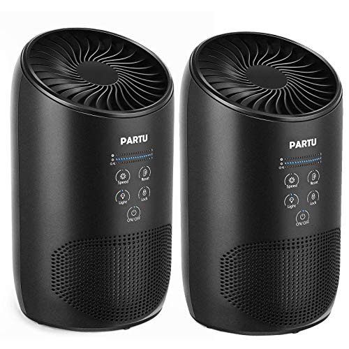 PARTU HEPA Air Purifier - Smoke Air Purifiers for Home with Fragrance Sponge - 100% Ozone Free, Lock...
