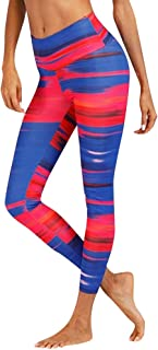 PAQOZ Womens Yoga Pants High Waist Yoga Camouflage Splice Legging Running Sports Pants Trouser