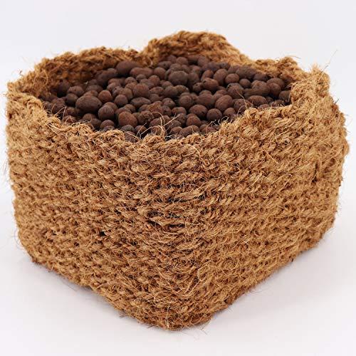 Aquagart Kokos Pflanzkorb Teichpflanzen I Teichkorb - geeignet für Wasser Ufer & Böschung I für einen natürlichen Gartenteich ohne Kunststoff I Wasserpflanzen-Korb (1, Pflankorb 20cm x 20cm x 15cm)