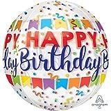 Amscan 3783701 Orbz Happy Birthday - Globo , color/modelo surtido