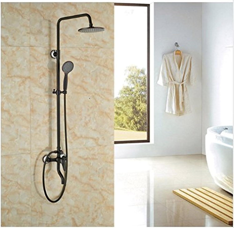Gowe Ausgesetzt Neu l eingerieben Broze Dusche Set Hebel mit Handbrause Bad Regendusche Wasserhahn