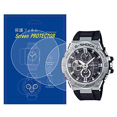 【3枚入】For G SHOCK GST-B100対応腕時計用液晶保護フィルム高透過率キズ防止気泡防止貼り付け簡単