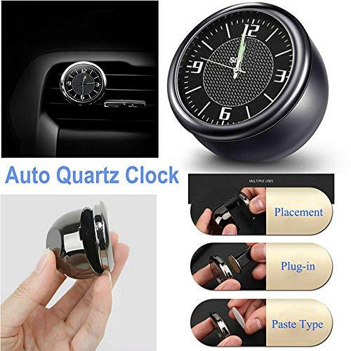 MASO Auto Uhr Armaturenbrett Lüftungsgitter Tisch Classic Auto klein rund Quarzuhr Auto Ornamente Zubehör schwarz