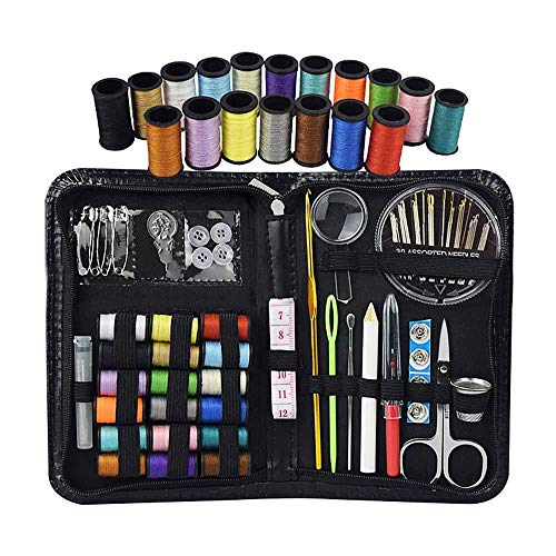 YUANP 75 Pieces Of Embroidery Kits For Beginners Travel Emergency Sewing Accessories Kits, Threads And Needles For Home Office Clothes And Clothes Repair