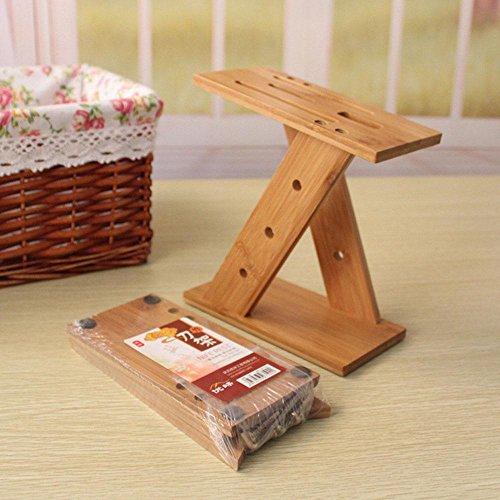 WYFC Blocs de couteaux en bambou amovibles racks porte-outils de cuisine