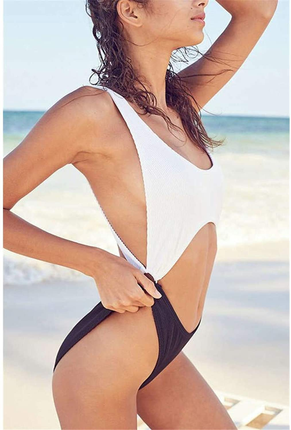 SHENGYUNPIO 2019 One Piece Swimsuit Solid damen Swimwear Halter Bathing Bathing Bathing Suit Beach Wear Patchwork Bodysuit Piece Swimwear B07PB2QX3Z  Flagship-Store 34a788