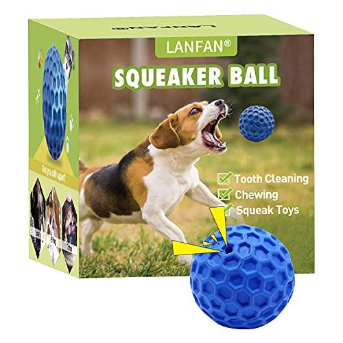 Hundespielzeug Ball, Hundebälle mit Quietscher, Kauspielzeug Welpen für Große & Kleine Hunde, Hunde Wasserspielzeug, Hundespielball, Quietschball für hunde, Squeaky Dog Balls aus Naturgummi