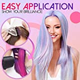 【US FAST SHIPMENT】Thermochromic Color Changing Hair Dye, Natural Thermochromic Temperature Activated Hair Color, Fashion DIY Hair Coloring Dye Cream for Party Festival Cosplay Halloween (Blue)