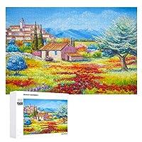 ポピーフィールド 木製パズル大人の贈り物子供の誕生日プレゼント(50x75cm)1000ピースのパズル