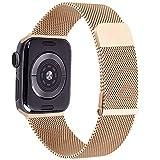 YZXL Metallo Cinturino Compatibile con Apple Watch Cinturino 44mm 40mm 42mm 38mm, Magnetico +Fibbia Cinturini per iWatch SE Series 6 5 4 3 2 1 (38mm/40mm,Oro Rosa)