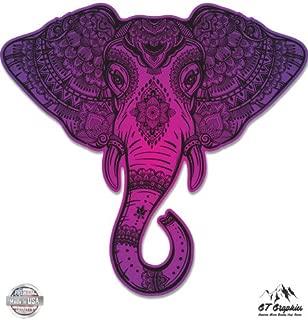 GT Graphics Elephant Purple Henna Indian Mandala - Vinyl Sticker Waterproof Decal