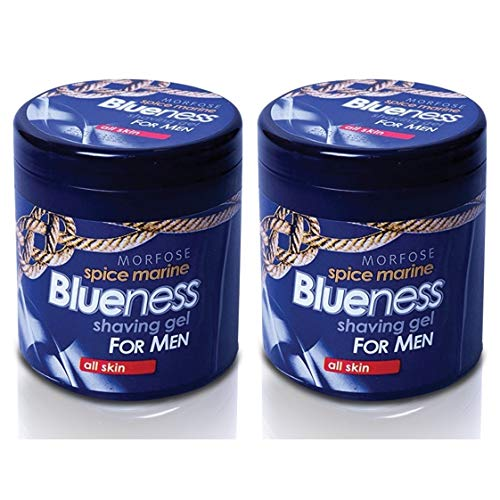 2x Morfose Blueness Spice Marine Rasiergel Shaving Gel All Skin 2x 500ml