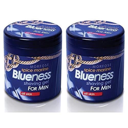 2x Morfose Blueness Spice Marine Rasiergel Shaving Gel All Skin 2x 500ml