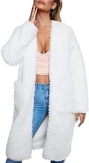 Women Costume Winter Faux Fur Coat for Women Long Sleeve Lapel Warm Outwear Cardigan Overcoat Jacket Outfit