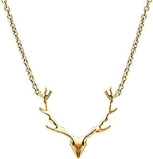 Vintage Deer Necklace Elk Head Pendant Necklace Cute Animal Pendant Necklace for Women