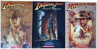 Indiana Jones Trilogy 3 Book Set Novelization with Mini Poster (Volumes 1, 2 & 3)
