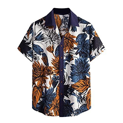 Camisa informal para hombre, camisa hawaiana de manga corta para hombre, camisa informal holgada, camisa de...