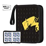 POKONBOY Carrying Case Binder Compatible with Pokemon Cards, Holds Up to 400 Cards - 50 Pages 4-Pocket Card Sleeves Holder Collector Album Fit for Pokemon Trading Cards