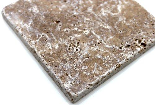 Travertine Noche Fliesen Naturstein Boden Wand Mosaik 10cm x 10 cm - 1 Paket