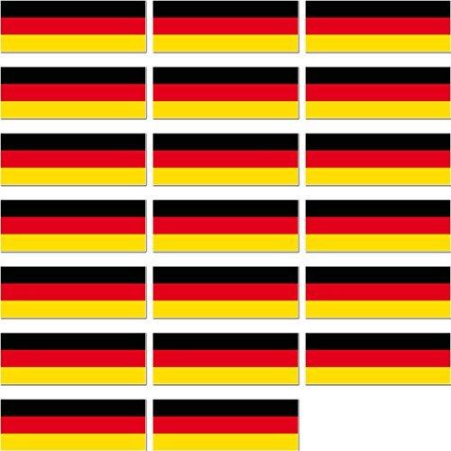 GreenIT 20 Stück 4,2cm BRD Deutschland Flagge Fahne RC Modellbau Mini Aufkleber Sticker Modellbauaufkleber
