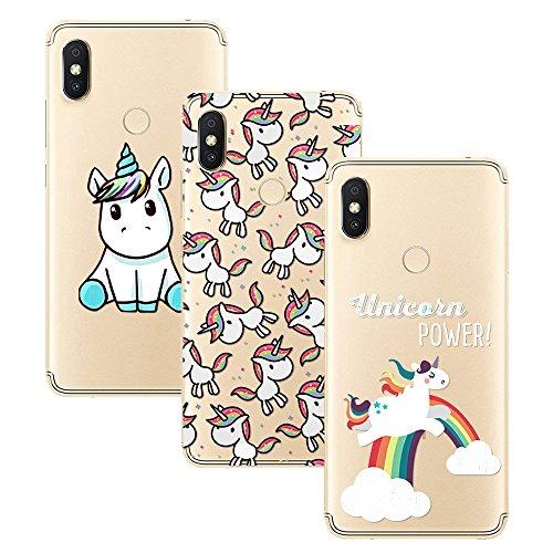 Young & Ming Xiaomi Redmi S2 Funda, [3 Pack] Carcasa Transparente Slilicona Suave TPU Gel Enjaca Xiaomi Redmi S2, Color 2