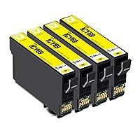 エプソン epson 互換インクカートリッジ ic69 ICY69-4pk イエロー 4個パック 対応プリンター: px-045a px-105 px-047a px-046a px-405a px-435a px-436a px-437a px-505f px-535f 大容量 残量表示icチップ付大阪インク