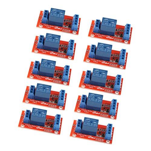MagiDeal 10 Stück Relaismodul 3 V 1 Kanal Relaiskarte Modul Optokoppler LED Für Arduino PIC ARM