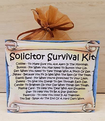 Solicitor's Survival Kit - Fun Novelty Gift & Card / Keepsake / Secret Santa/ Stocking Filler