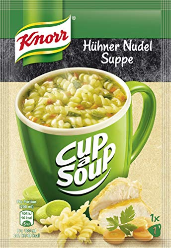 Knorr Cup a Soup Hühner Nudel Suppe 1 Tasse, 18x 28g