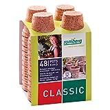 48x Macetas redondas de fibra de coco biodegradable Romberg Classic Pots (8cm)