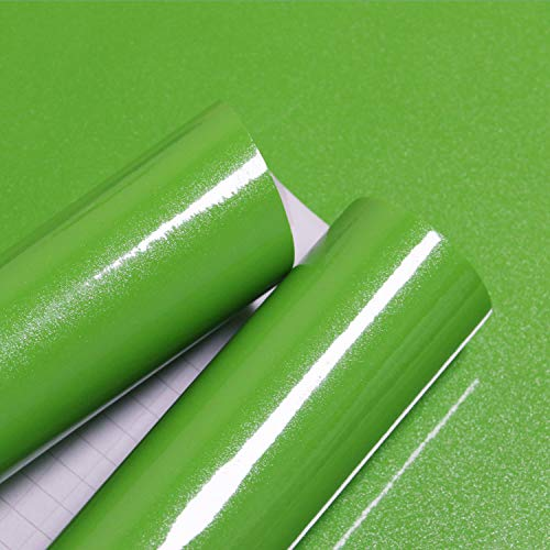 15.74''×118.11''Glossy Green Contact Paper Peel and Stick Countertop Contact Paper Self-adhesive Removable Glitter Contact Paper Waterproof Wallpaper Decorative Kitchen Cabinet Shelf Drawer Vinyl Film