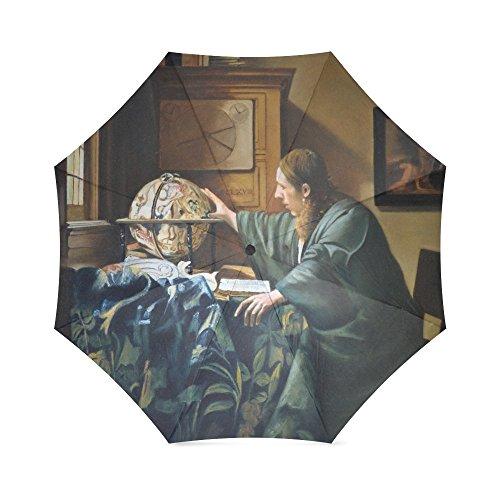 Vrienden Nieuwigheid Verjaardag Geschenken presenteert De Astronoom Van Johannes Vermeer 100% Stof En Aluminium Opvouwbare Hoogwaardige Paraplu door Johannes Vermeer Schilderijen Paraplu