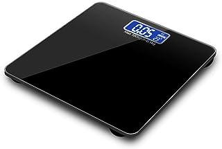 YUHUANG Báscula de Peso, Pantalla LCD electrónica Báscula de baño de Peso Báscula Inteligente Báscula de Salud Humana para el hogar Báscula de Peso precisa,A