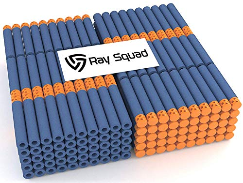 Ray Squad Waffle Darts 200-Pieces Set, Ultimate Nerf Foam Toy Darts, Premium Refill Bullets for N-Strike Guns, Universal Mega Pack, Firm and Safe Nerf Accessories Amazing Precision Control