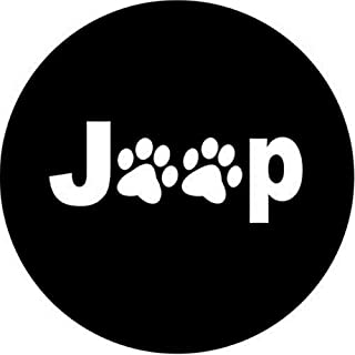 Dee-Type Paws Spare Wheel Tire Cover Fit Jeep Wrangler,Liberty Classic Grill R17