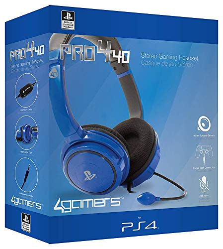 4Gamers PS4 Stereo Gaming Headset 40 - blue