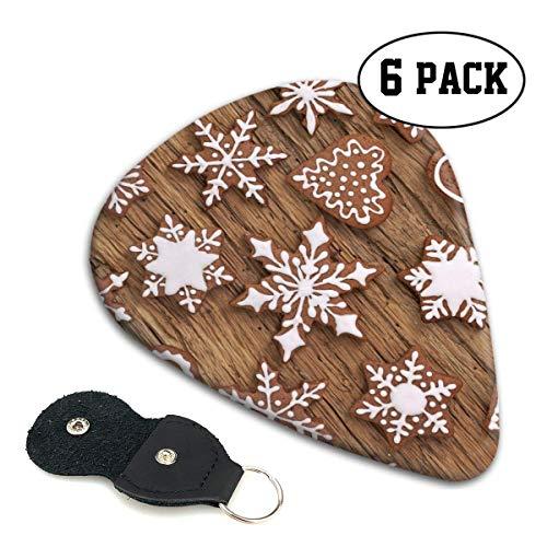 Kerst Chocolade Cookie 351 Vorm Klassieke Celluloid Gitaar Picks voor uw elektrische, akoestische, Mandoline, Bas en Ukulele Gitaar .71mm 6-Pack