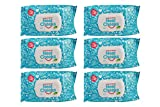 The Original NeatCheeks Natural Flavored Baby Face Wipes for Sensitive Skin - As seen on SHARK TANK! (6 Packs of 25)