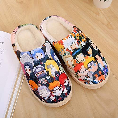 NVSRZTX Junges süßes Haustier Anime Pantoffeln Mens Mule Hausschuhe Durchgängies Plateau Sandalen mit Keilabsatz,A,44