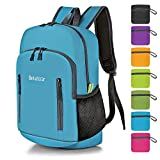 Bekahizar 20L Ultra Lightweight Backpack Foldable Hiking Daypack Rucksack Water Resistant Travel Day Bag for Men Women Kids Outdoor Camping MountaineeringWalking Cycling Climbing (Blue)